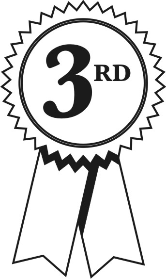 2nd place ribbon clipart clipart black and white stock Third place ribbon clip art - ClipartFest clipart black and white stock