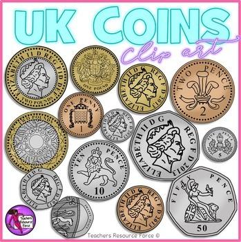2p coin clipart jpg transparent library British UK coins clip art: 1p, 2p, 5p, 10p, 20p, 50p, £1, £2 jpg transparent library
