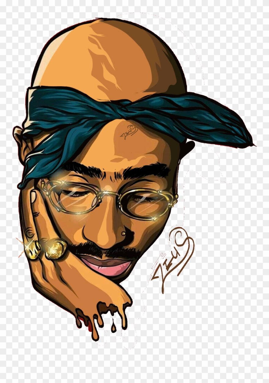 2pac clipart graphic black and white stock Rapper Vector Tupac Shakur Vector - Cartoon Tupac Clipart (#762880 ... graphic black and white stock