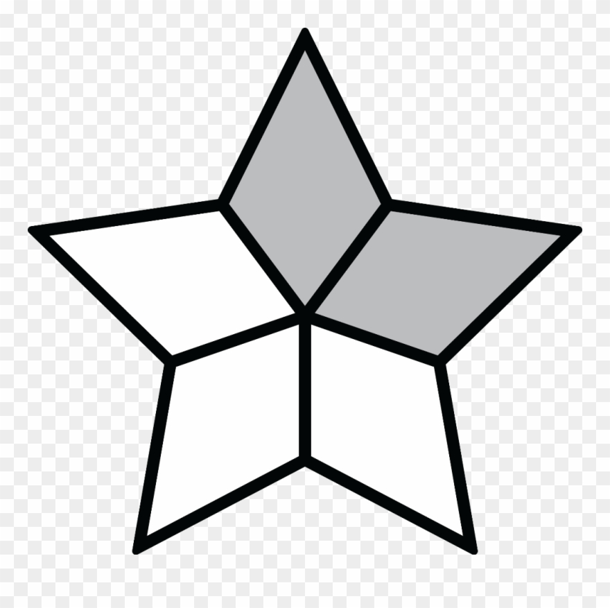 3 10 fraction clipart graphic free library Fraction Clipart Shaded - 10 Point Star - Png Download (#682458 ... graphic free library