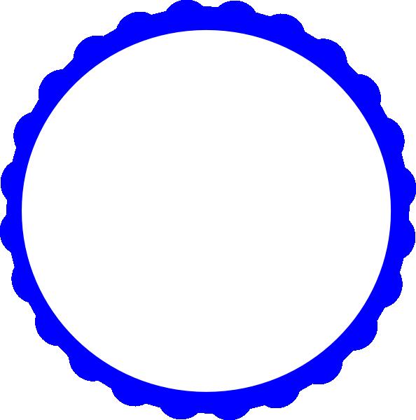 3 4 circle blue clipart