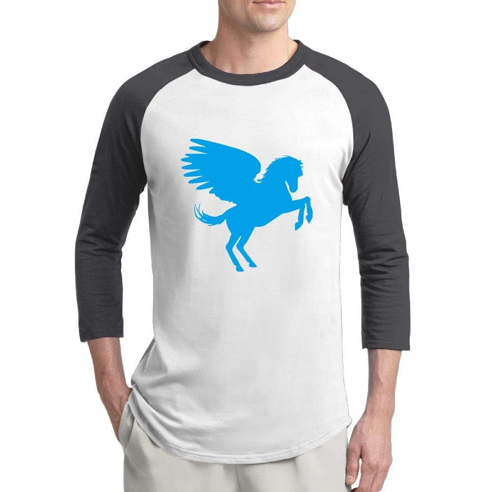 3 4 sleeve t-shirt clipart vector royalty free stock Amazon.com: Iwq99P-9 3/4 Sleeve Pegasus Clipart Tee Shirt for Men ... vector royalty free stock