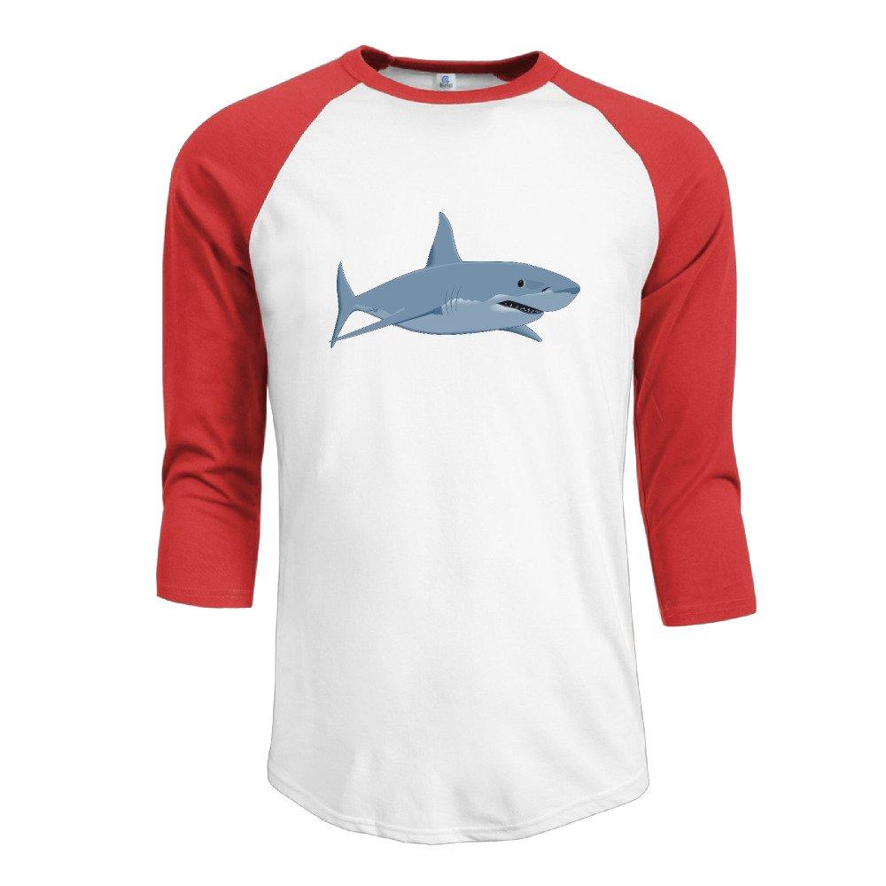 3 4 sleeve t-shirt clipart png freeuse Amazon.com: Men Cartoon Shark Clipart Cotton 3/4 Sleeve Raglan T ... png freeuse