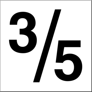 3 5 clipart vector transparent stock Clip Art: Numerical 05 3/5 B&W I abcteach.com   abcteach vector transparent stock