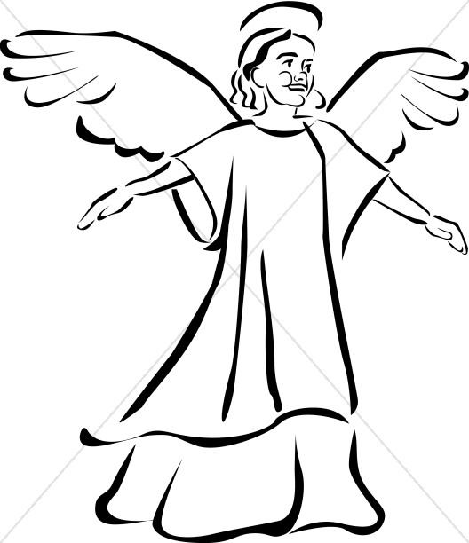 3 angel baby clipart black and white banner royalty free library Child Angel Clipart | Angel Clipart banner royalty free library