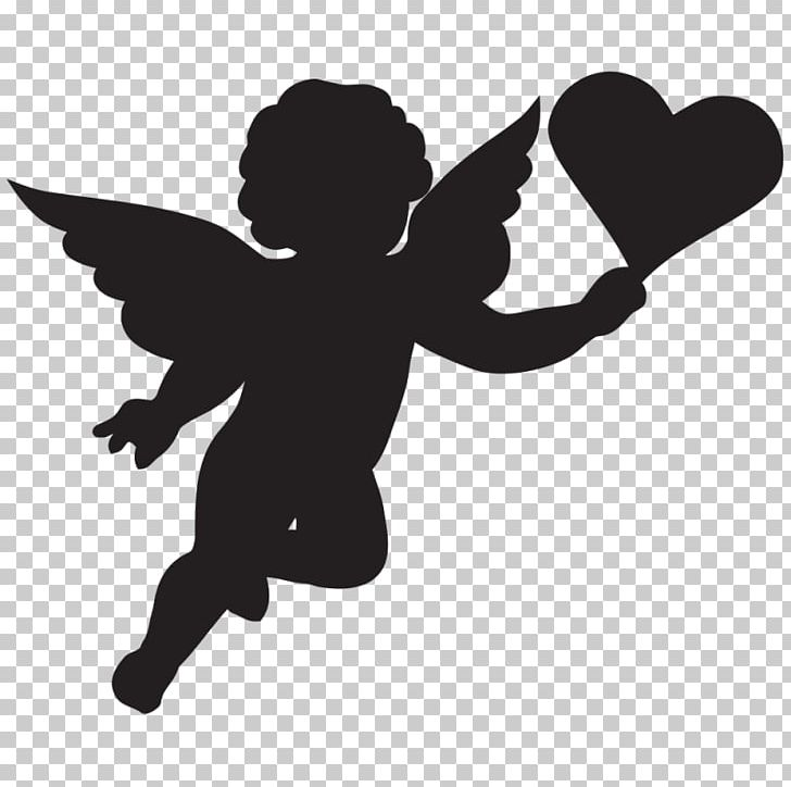 3 angel baby clipart black and white jpg library stock Cherub Cupid Silhouette PNG, Clipart, Angel Baby, Art, Art Angel ... jpg library stock