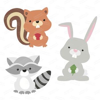 Woodland bunny clipart
