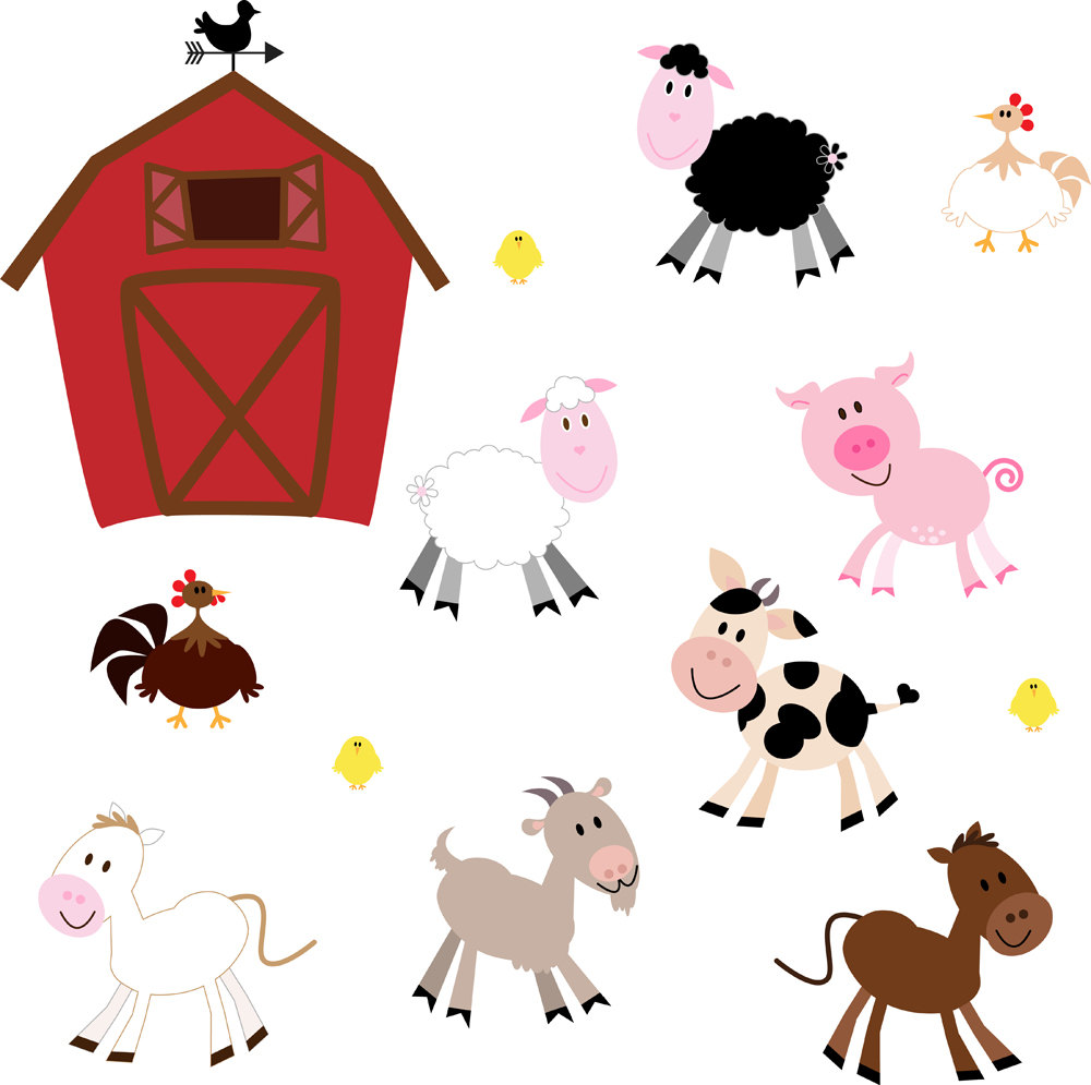 Animal clipart graphics free vector black and white library Cute farm animals clipart kid 3 - Cliparting.com vector black and white library