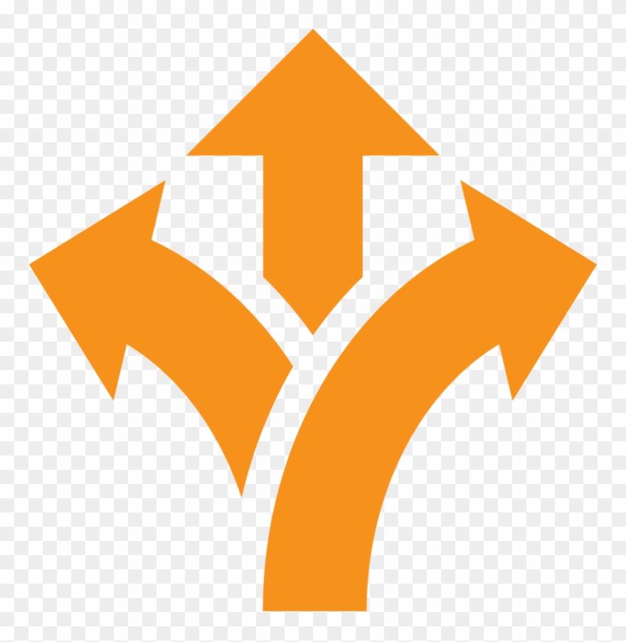 3 arrows clipart image black and white download Flexible Arrows Orange - 3 Arrows Icon Png Clipart (#2206558 ... image black and white download