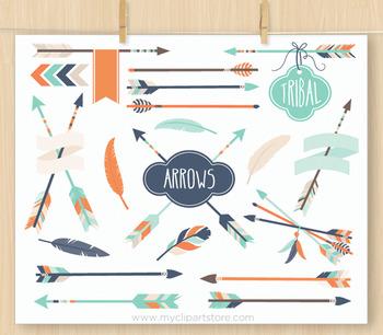 3 arrows tribal clipart vector free library Tribal Arrows (#3) Clipart , Aztec, Navajo, American Indian (blue orange) vector free library