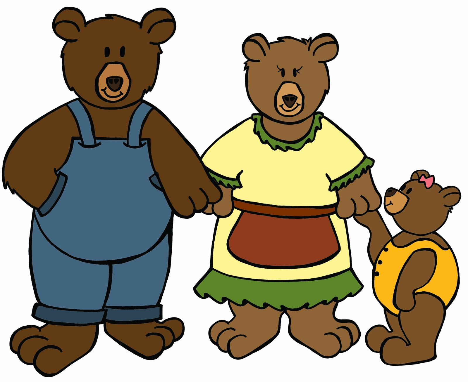 3 bears walking clipart graphic freeuse stock Goldilocks And The Three Bears Clipart | Free download best ... graphic freeuse stock