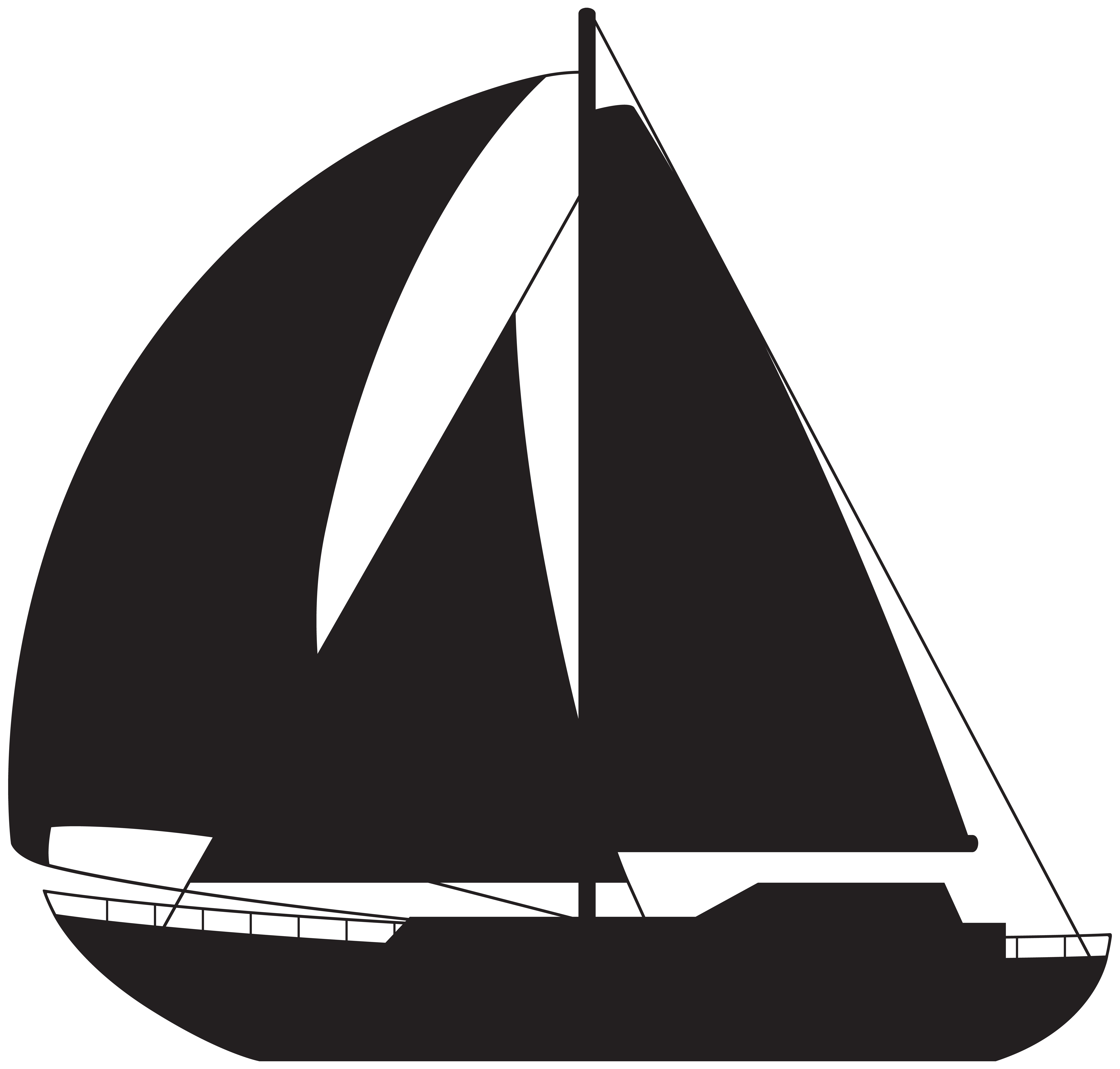 3 boats sailing away clipart banner transparent library Sailing ship Ice boat Rigging - Sailboat Silhouette PNG Clip Art ... banner transparent library
