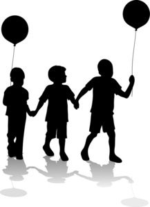 3 boys silhouette clipart picture library stock Pinterest picture library stock