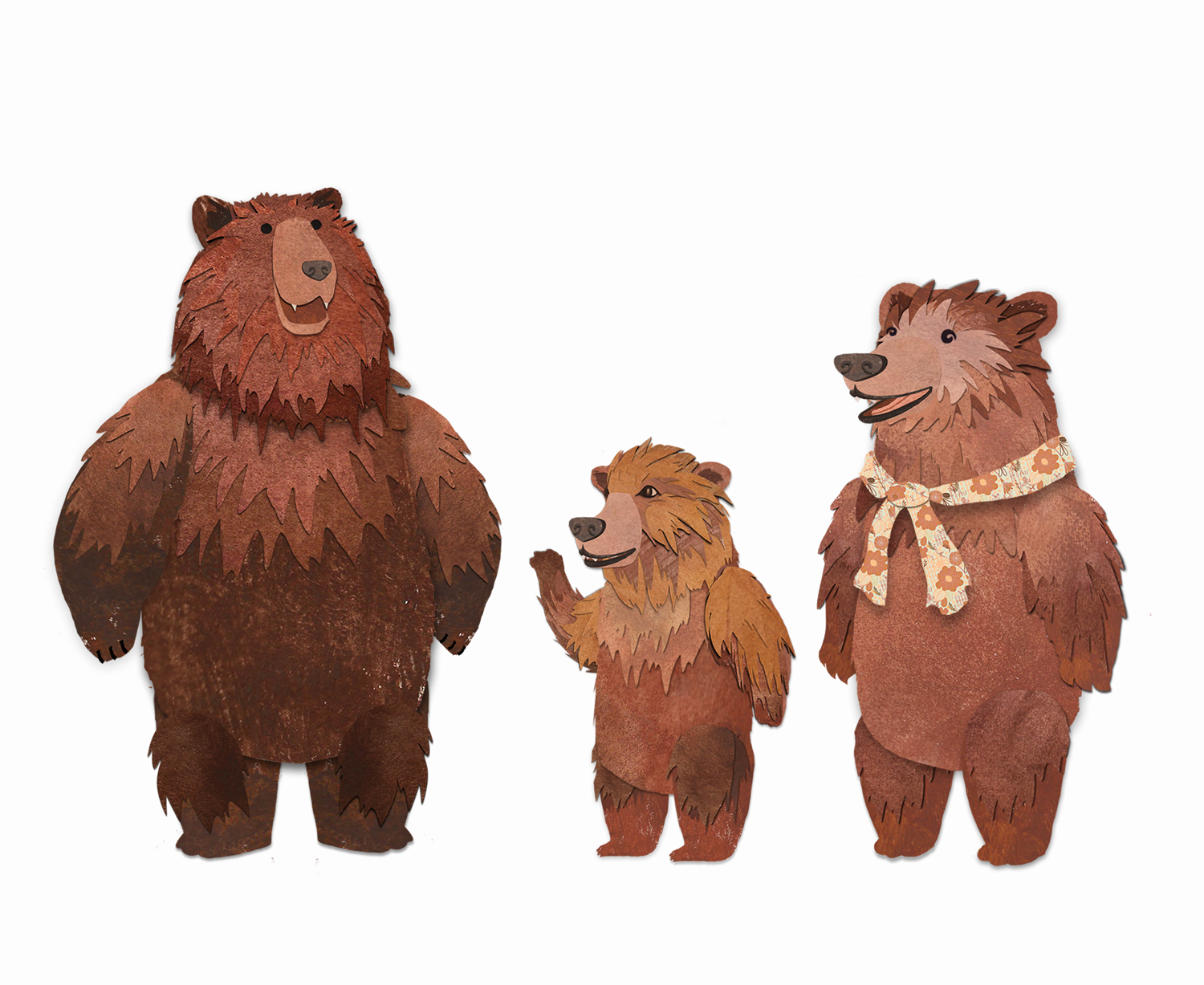 3 brown bears clipart png freeuse download Three Bears PNG Transparent Three Bears.PNG Images. | PlusPNG png freeuse download