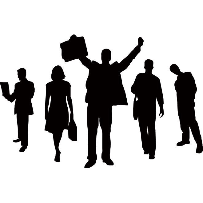 3 business people clipart vector black and white stock Free clipart business people 3 » Clipart Portal vector black and white stock