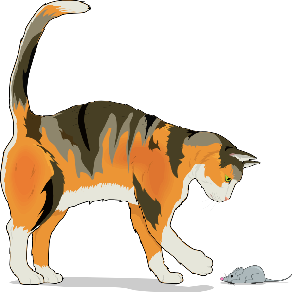 Cat and mouse clipart jpg library download Cat With Mouse Clip Art at Clker.com - vector clip art online ... jpg library download