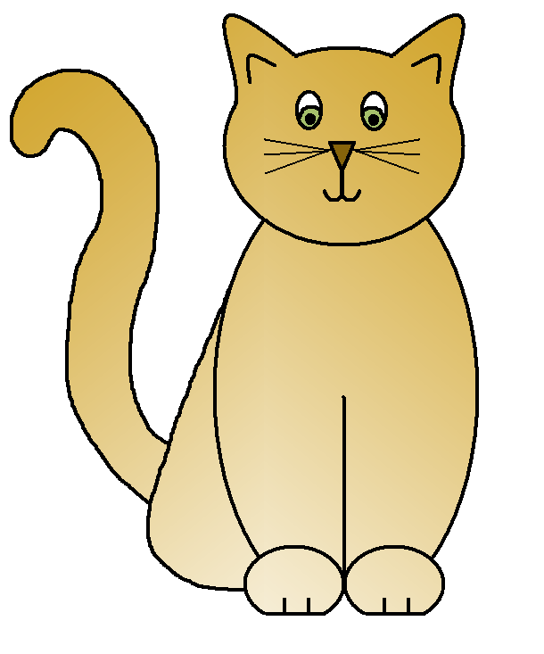 Fat cat clipart free svg freeuse download Cat clip art 4 - Clipartix svg freeuse download