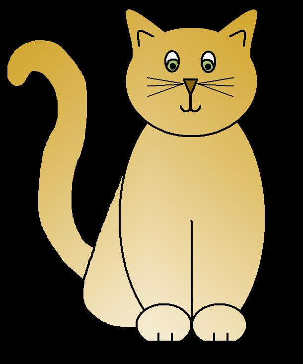 Clipart of fat cat banner transparent Cat clip art 4 - Clipartix banner transparent
