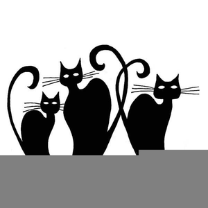 3 real cats clipart
