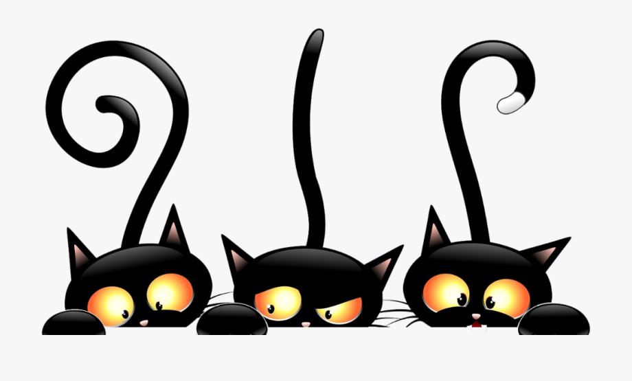 Black cat cartoon clipart clip transparent download mq #cat #black #halloween - 3 Black Cats Cartoon #1887631 - Free ... clip transparent download