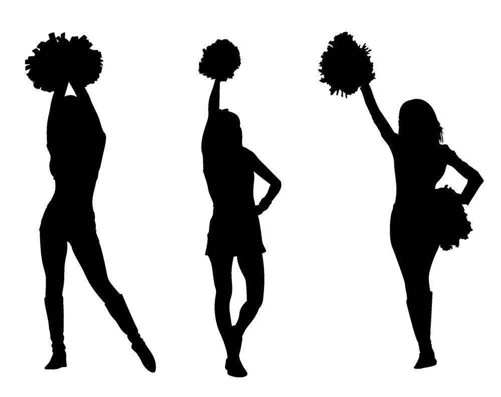 Cheerleader clipart silhouette