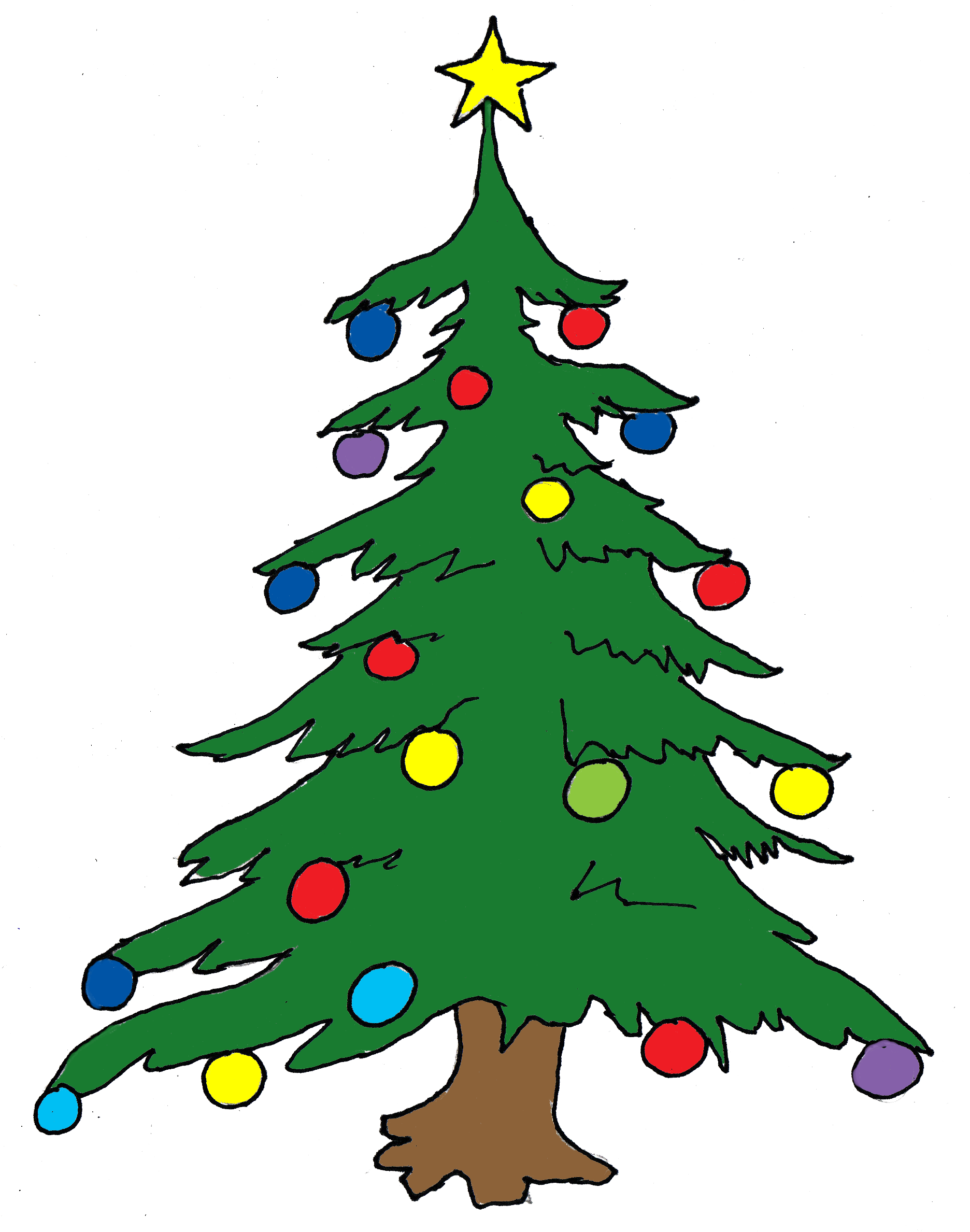 Tall christmas tree clipart png library library Christmas tree clip art free clipart images 3 - ClipartAndScrap png library library