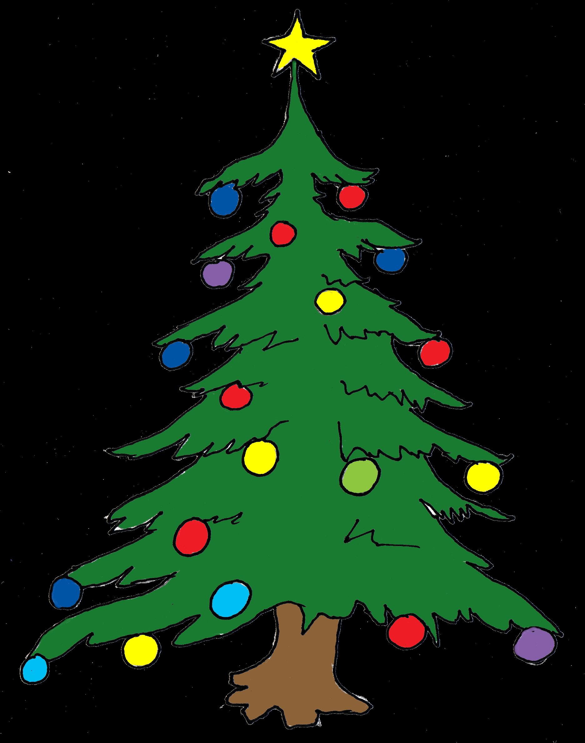 Tall christmas tree clipart