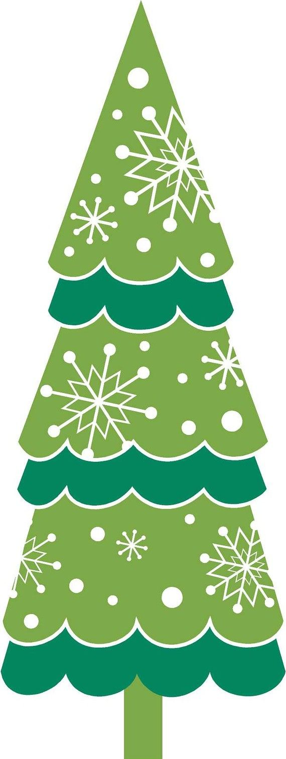 Tall christmas tree clipart graphic black and white library Free Christmas Tree Clip Art, Download Free Clip Art, Free Clip Art ... graphic black and white library
