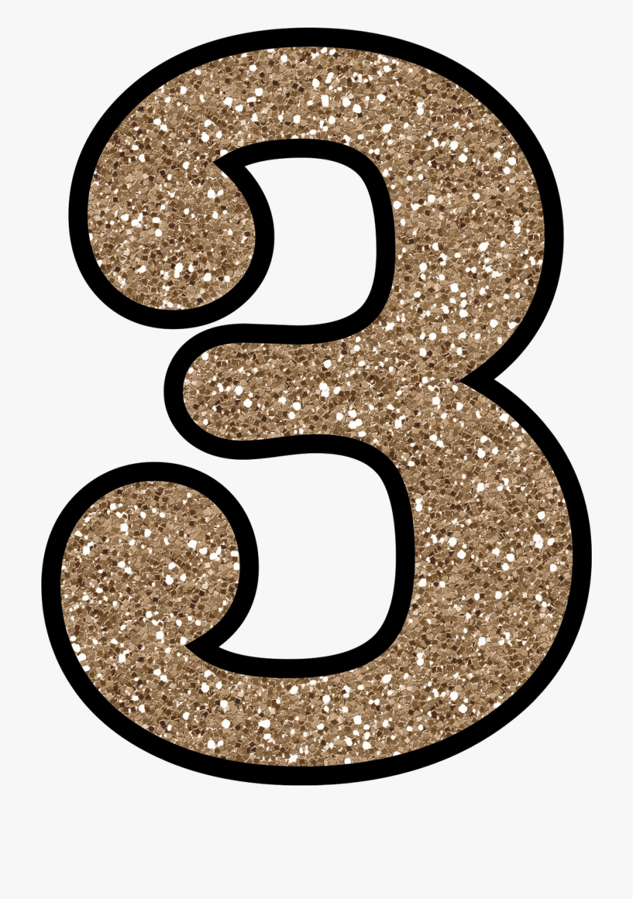 Glitter numbers clipart picture stock Glitter Clipart Number 3 - Gold Glitter Number 3 #479102 - Free ... picture stock