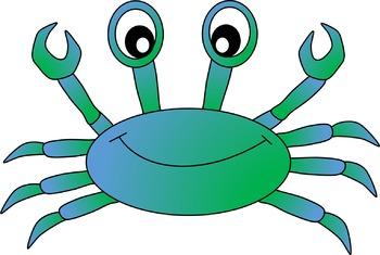 3 color crab clipart vector free download Crab Clipart vector free download