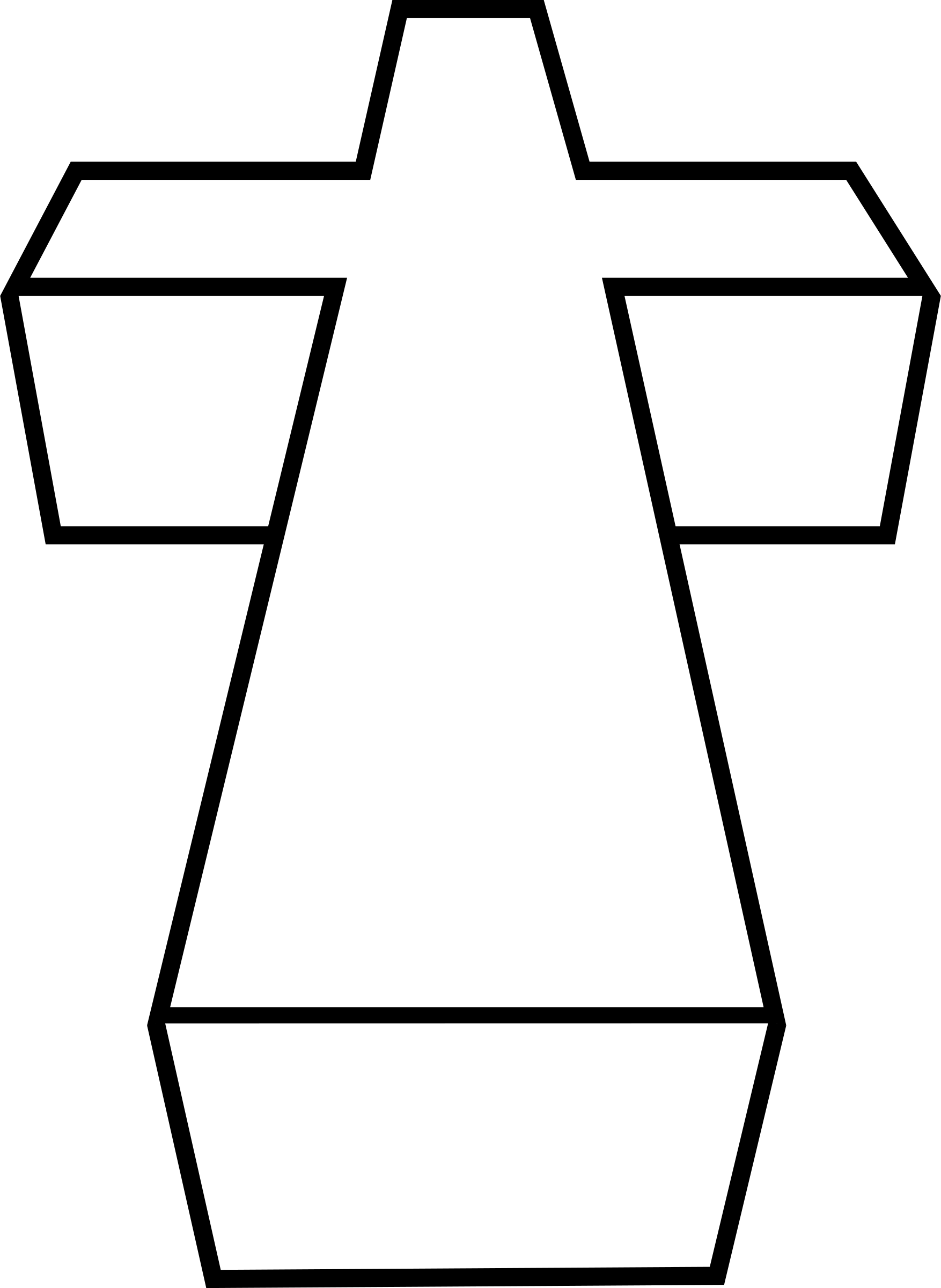 d encode to. Cross with shadow clipart