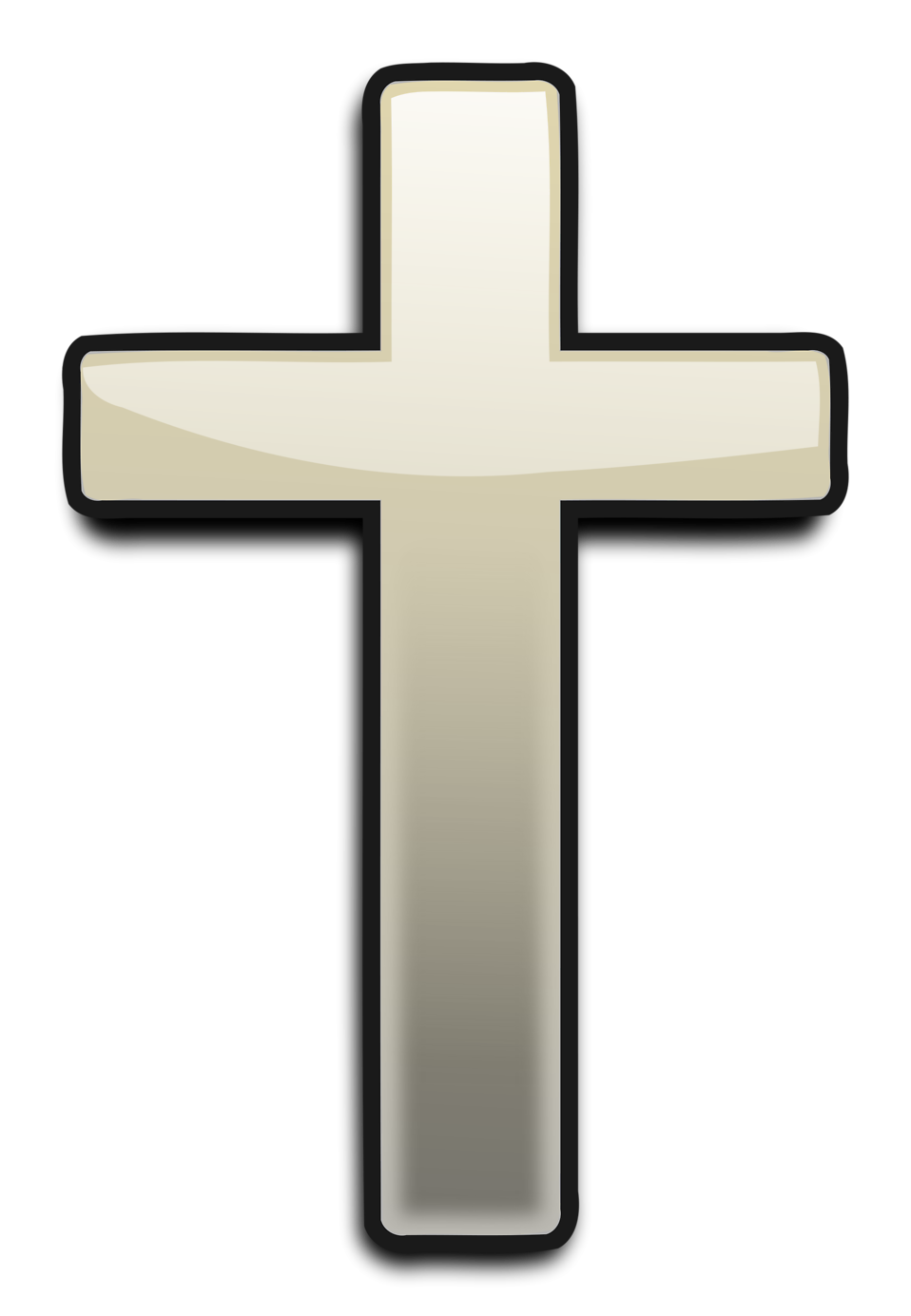 Painted cross clipart
