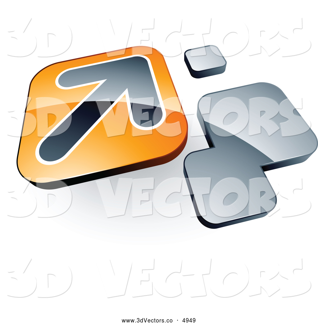 3 d clipart gray arrow royalty free 3d Vector Clipart of a Arrow on an Orange Tile Box near Orange ... royalty free