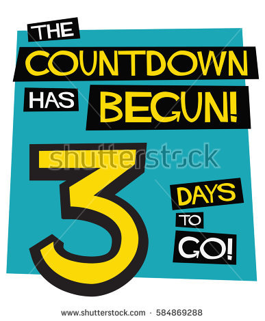 3 day countdown clipart graphic transparent download 3 Days Go Flat Style Vector Stock Vector 583219957 - Shutterstock graphic transparent download