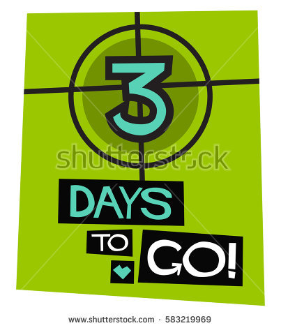 3 day countdown clipart.  days go flat