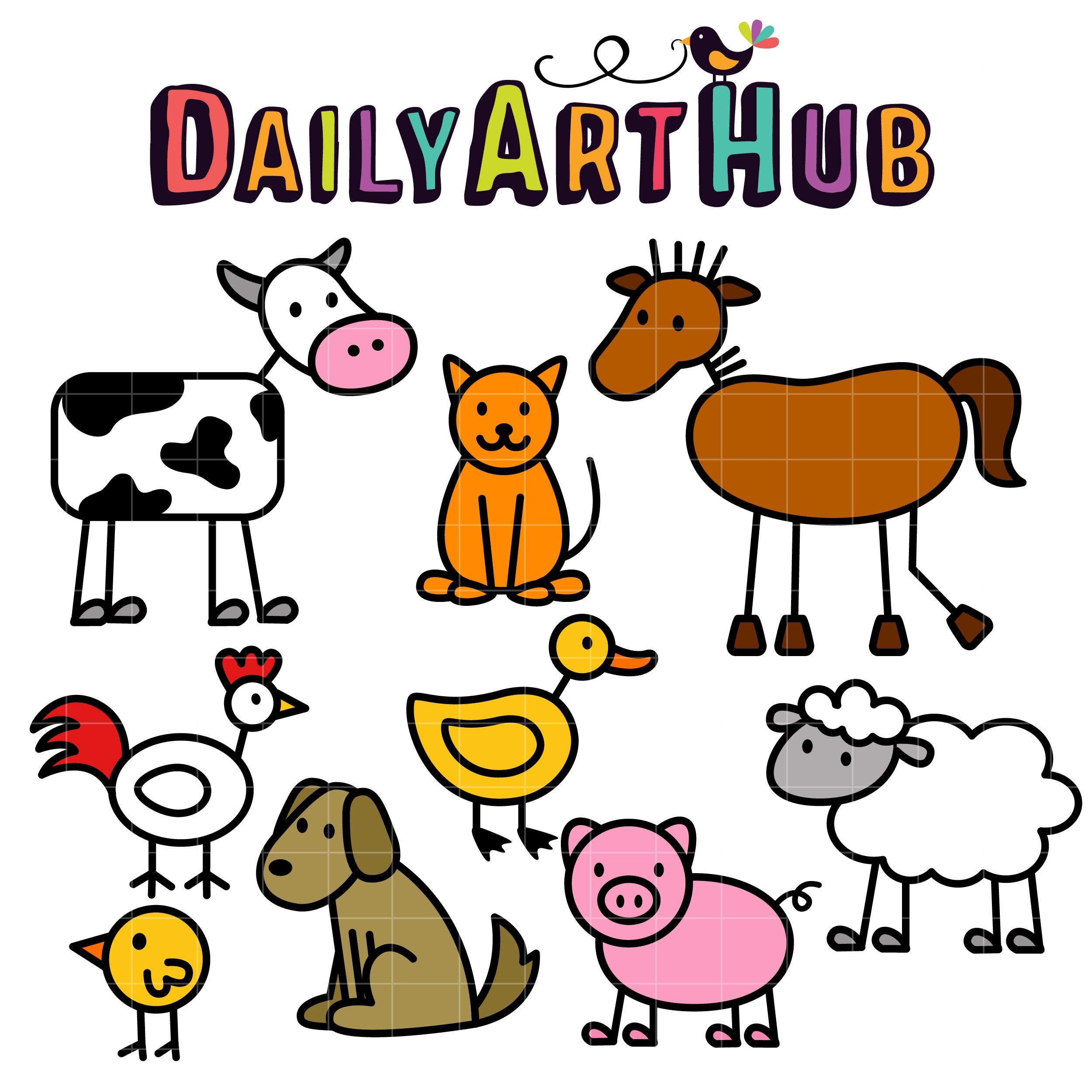 3 domestic animals clipart clip transparent Images Farm Animals Clipart | Free download best Images Farm Animals ... clip transparent