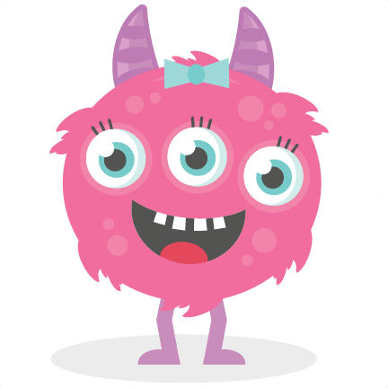 3 eyed monster clipart