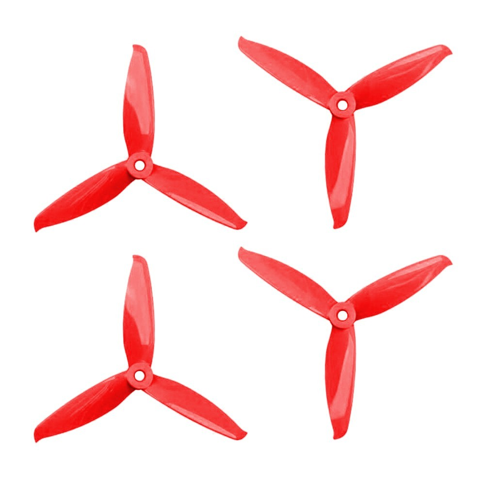 3 fan blades clipart svg transparent Gemfan 5152S V2 3 Blade Propeller (Set of 4 - Red) svg transparent