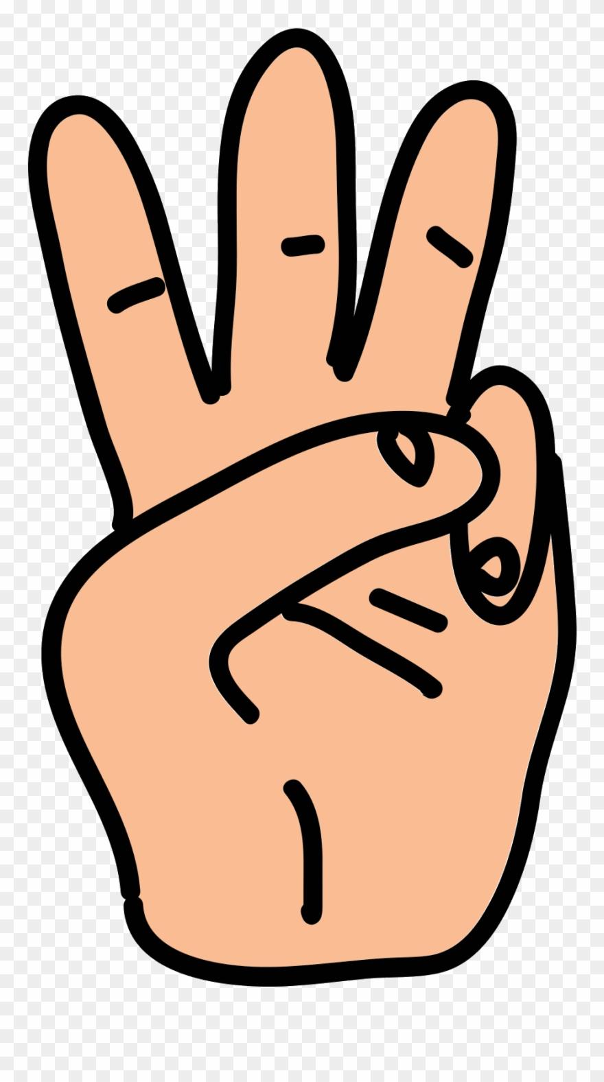 Snap Fingers Clip Art - Three Fingers Clip Art - Png Download ... graphic