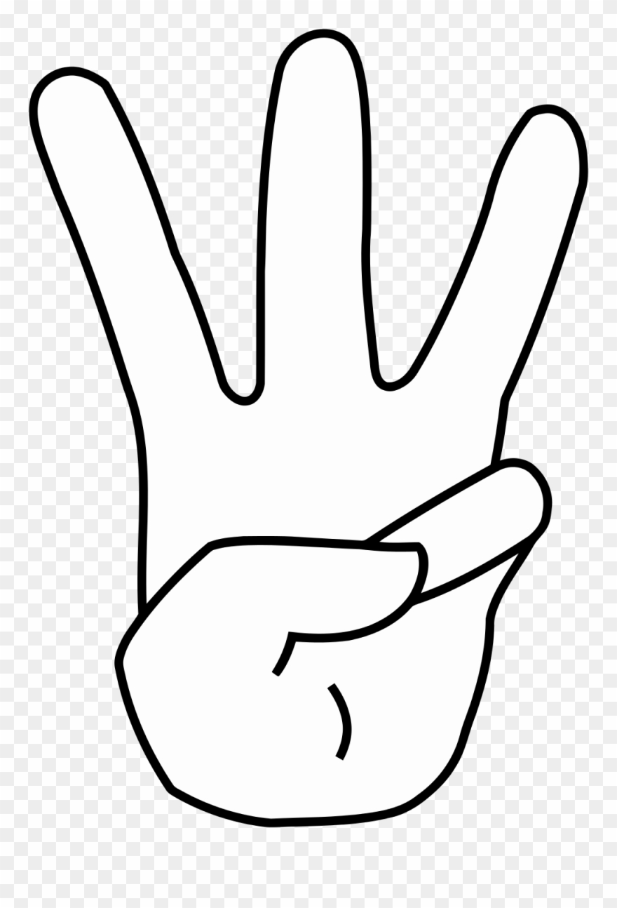 Three finger clipart image transparent library Anime Clipart - Three Fingers Black And White Clipart - Png Download ... image transparent library
