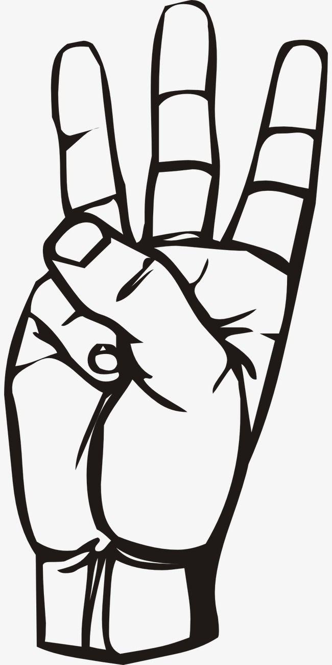 Three finger clipart image royalty free Ink Three Finger Gesture, Ink, Three Fingers, Gesture PNG ... image royalty free