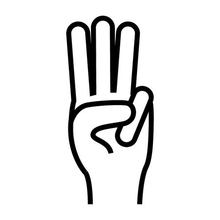 Three finger clipart library Counting Three Fingers Up Hand Gesture Icon Image Illustration - 450 ... library