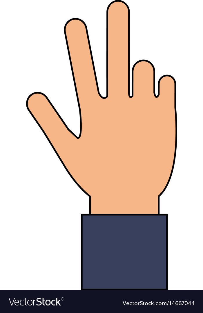 3 fingers up clipart clipart freeuse library Color image cartoon hand with three fingers up clipart freeuse library