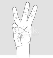 3 fingers up clipart graphic royalty free library Hand With 3 Fingers UP stock vectors - Clipart.me graphic royalty free library