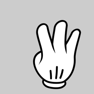 3 fingers up clipart picture freeuse stock 293 fingers free clipart | Public domain vectors picture freeuse stock