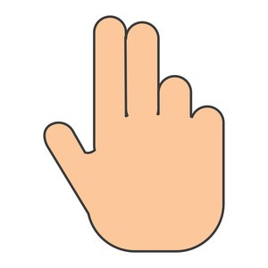 Two finger clipart