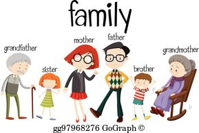 The family clipart jpg black and white Generations Clip Art - Royalty Free - GoGraph jpg black and white