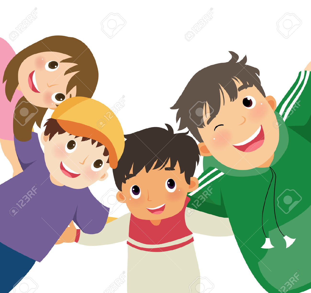 Girl and boy friendship clipart - ClipartFest clip