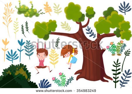 Stock Images similar to ID 304081847 - 3 girls and 1 boy standing ... banner royalty free download