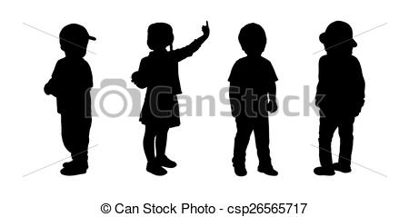 Children black and white clipart 3 girls 1 boy - ClipartFest image library library